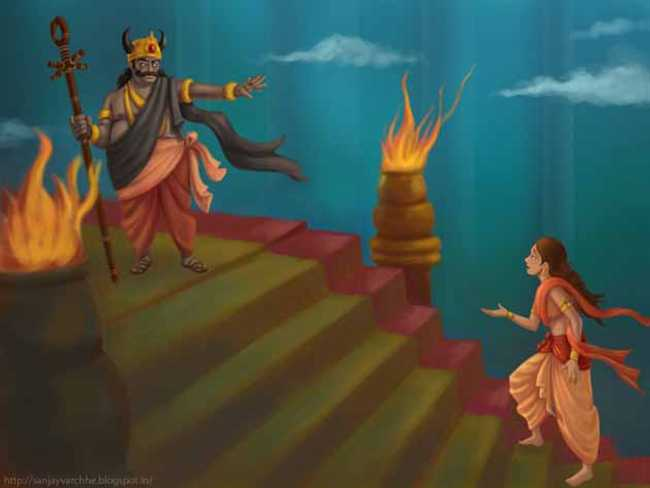 Savitri follows Yama (1)