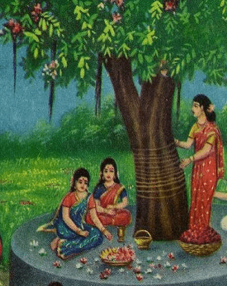 Savitri observing religious rites - Edited