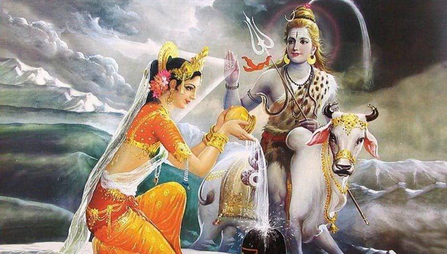 Shiva marries Parvato