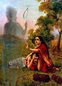 Yama comes to take Satyavan after death (1)