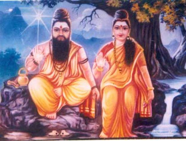 Agastya with wife Kaveri