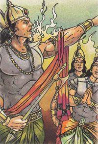 Indra Cursing Agni and Vayu